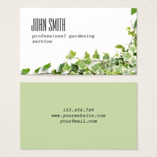 Design with ivy twigs business card
