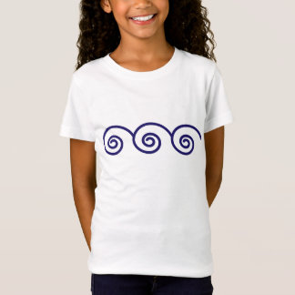 DESIGN WITH WAVES OF THE SEA T-Shirt
