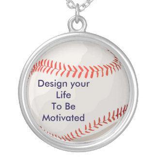 Design your Life to be Motivated baseball necklace