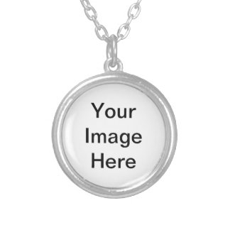 Design Your Own - Add Your Text Round Pendant Necklace