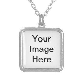 Design Your Own - Add Your Text Square Pendant Necklace