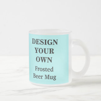 Design Your Own Beer Mug - Light Blue