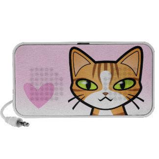 Design Your Own Cartoon Cat (love hearts) Speaker