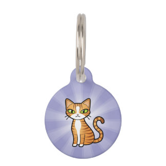 Design Your Own Cartoon Cat Pet Name Tag
