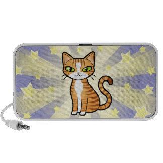 Design Your Own Cartoon Cat Notebook Speakers