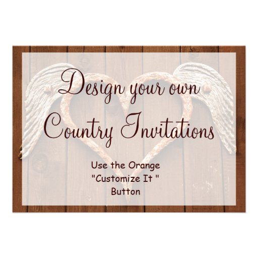 design your own country invitations template 13 cm x 18 cm invitation card