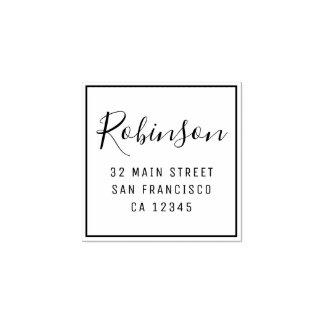 Design Your Own Custom Family Name Return Address Rubber Stamp