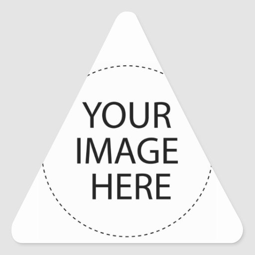 Design Your Own Custom Gifts - Blank Triangle Sticker