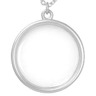 Design Your Own Custom Pendant, Round, Silver Neck Round Pendant Necklace