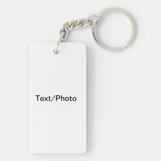 Design Your Own Double-Sided Rectangular Acrylic Key Ring