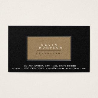 design your own elegant black prof standard business card
