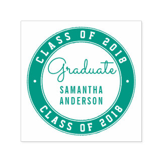 Design Your Own Green Round Graduation Typography