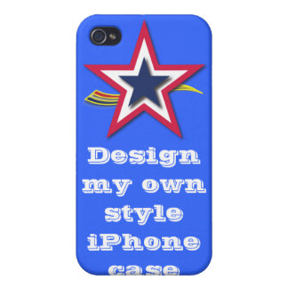 Design your own iPhone Case - Blue Custom iPhone 4/4S Covers