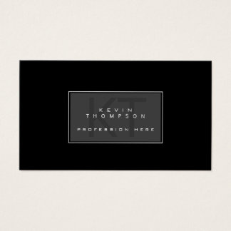 design your own modern profissional blk standard business card