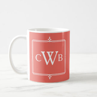 Design Your Own Monogram Customisable Colour Hue Coffee Mug