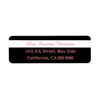 design your own mrs. feminine striped return address label