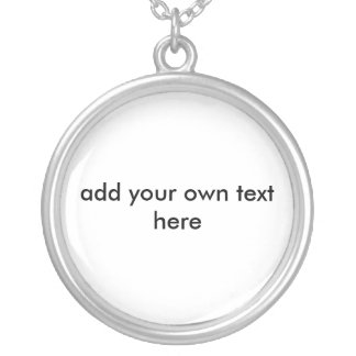 Design Your Own Round Pendant Necklace