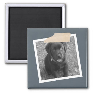 Design Your Own Personalized Photo Square Magnet