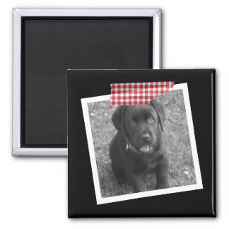 Design Your Own Personalized Tape Square Magnet