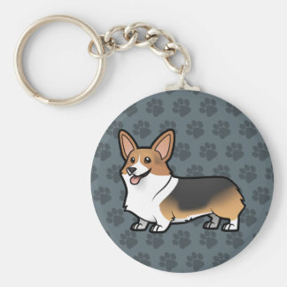 Design Your Own Pet Basic Round Button Key Ring