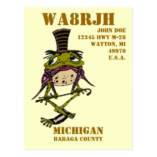 Design Your Own QSL HAM Radio Operator Op Frog Postcard