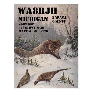 Design Your Own QSL HAM Radio Operator Op Wildlife Postcard