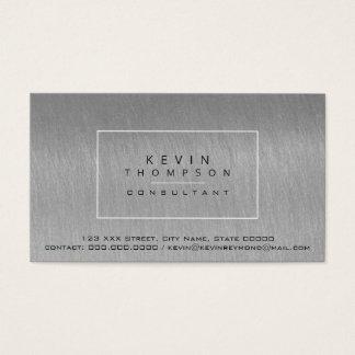design your own steel gray pro standard business card