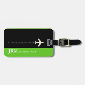 design your own travel green luggage tag