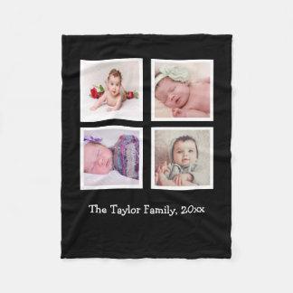 Design Your Own Unique Personalized 4 Photo Fleece Blanket