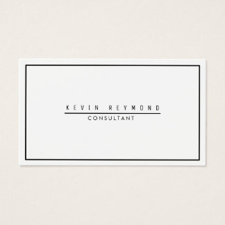 design your own white & plain professional business card