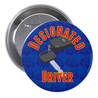 Designated Driver Pinback Buttons