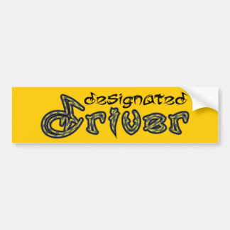 Designated Driver Bumper Sticker Car Bumper Sticker