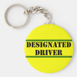 Designated Driver Basic Round Button Key Ring