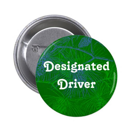Designated Driver Pine Holiday Button