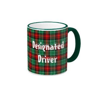 Designated Driver Red Green Plaid Coffee Mug