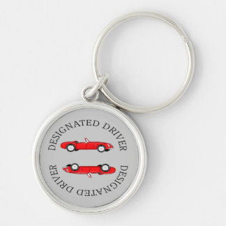 Designated Driver Silver-Colored Round Key Ring