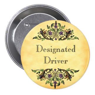 Designated Driver Thanksgiving Cornucopia Button