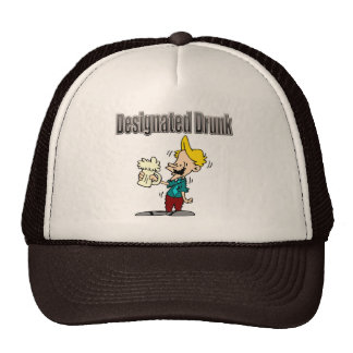 Designated Drunk Beer T-shirts and Gifts Trucker Hat