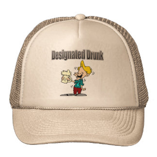 Designated Drunk Beer T-shirts and Gifts Cap