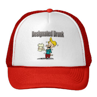 Designated Drunk Beer T-shirts and Gifts Mesh Hat