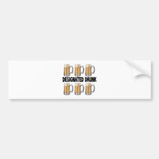 Designated Drunk Car Bumper Sticker