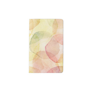 Designed abstract background with watercolor pocket moleskine notebook