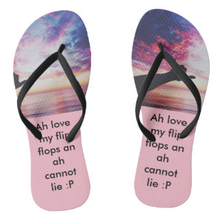designed flip flop, pink with black straps thongs