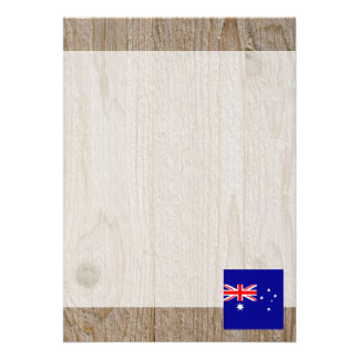 Designer Australia Flag Box 13 Cm X 18 Cm Invitation Card