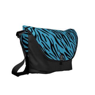 Designer Bag with Turquoise Zebra Stripe Flap Commuter Bags