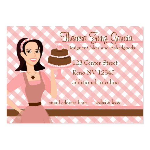 Designer Bakedgoods Cake Business Cards Pack 100