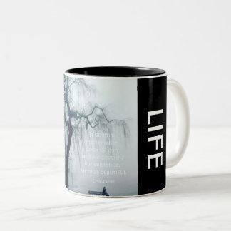 "*Designer ""Beautiful Life"" Coffee Mug"