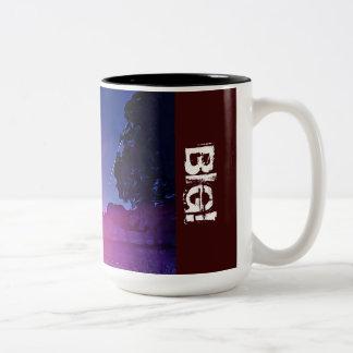 Designer Black 15 oz Two-Tone Mug