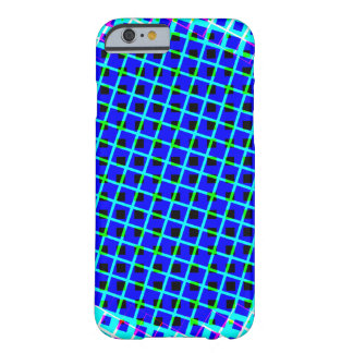Designer Blue Modern Shapes Barely There iPhone 6 Case
