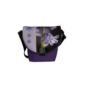 Designer Bluebell Flower Small Bag Courier Bags